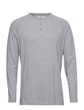 Mango Man Henley Cotton T-Shirt Harmaa