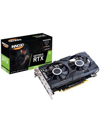 Inno3D GeForce RTX 2060 TWIN X2 6 GB, PCI-E, näytönohjain