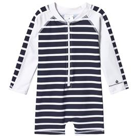 Stripe UV-puku Navysininen/Valkoinen0-6 months