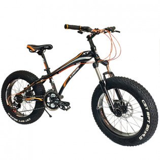 "20"" X-TREME Mini Fatbike 4"" maastorenkailla - Mustaoranssi"