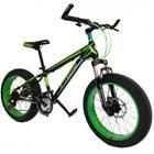 """20"""" X-TREME Mini Fatbike 4"""" katurenkailla - Mustavihreä"""