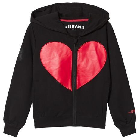 Heart Hoodie Musta128/134 cm