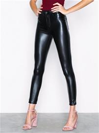 Only onlCRUSH High Waist Pu Ankle Pant P