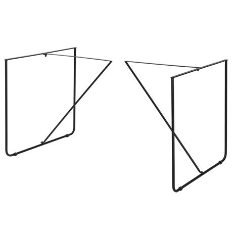 [en.casa]® Pöydänjalat - 2 kpl. metalli 79,5 x 62 x 73 cm musta