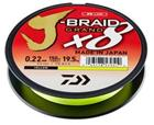Daiwa J-Braid Grand 0,13mm/8,5kg 135m Kuitusiima, yellow