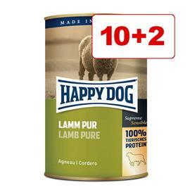 12 x 400 g Happy Dog koiranruoka: 10 + 2 kaupan päälle! - peura