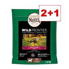 Nutro Wild Frontier koiranruoka 4,5 kg: 3 kg + 1,5 kg kaupan päälle! - Adult, kalkkuna & kana (3 x 1,5 kg)