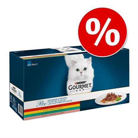 Gourmet Perle kissanruoka 120 x 85 g: 15% alennusta! - kana + nauta + lohi + kani