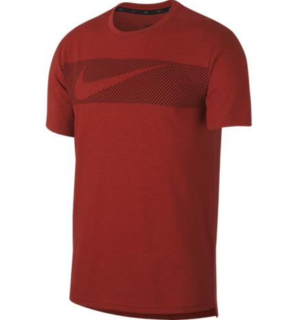 Nike M NK BRT TOP SS HPR DRY GFX MYSTIC RED/HTR/BLA