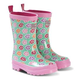 Green Flower Sketches Rain Boots20 (UK 3 / US 4)