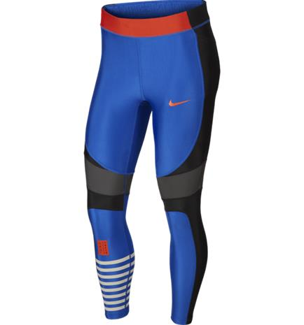 Nike W PWR SPEED TGHT 7/8 T BLACK/INDIGO FORCE