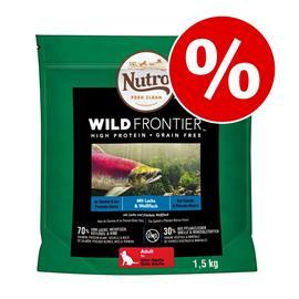 Nutro Wild Frontier kissanruoka 3 kg: 1,5 kg + 1,5 kg kaupan päälle! - Junior Salmon & White Fish