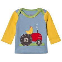 Tractor Pitkähihainen Paita Sininen/Keltainen12-18 months