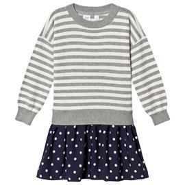 Stripes & Spots Mekko Harmaa/NavysininenM (8-9 v)