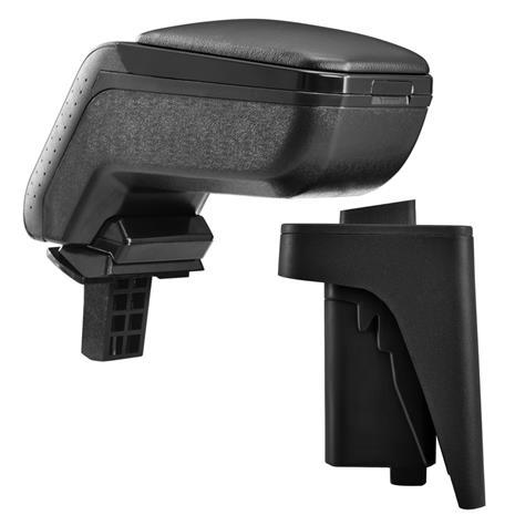 [pro.tec]® Kyynärnoja, keinonahka Audi A3 S3 8P musta, mustalla tikkauksella