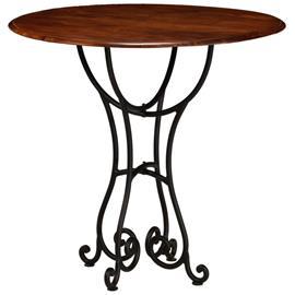 vidaXL Ruokapöytä kiinteä akaasiapuu seesampinnoitteella 80x76 cm, Muut huonekalut