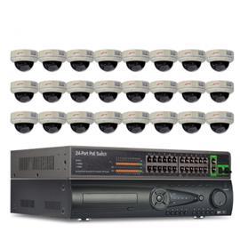 ANRAN PoE Övervakningssystem 24 st kameror 1080P IP66 Dome 3TB