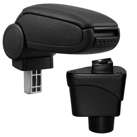 [pro.tec]® Kyynärnoja, keinonahka Ford EcoSport II musta, mustalla tikkauksella