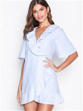 Topshop Poplin Ruffle Mini Dress