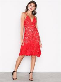 Love Triangle Atomic Frill Hem Dress