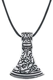 Rock-Silver Wikinger Axt Kaulakoru hopeanvärinen
