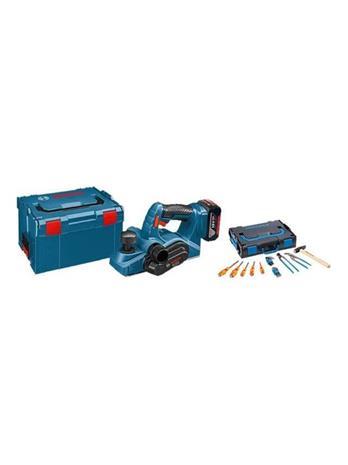 Bosch GHO 18 V-LI Professional L-BOXX (0615990J7W) 18V 2x5Ah, akkuhöylä