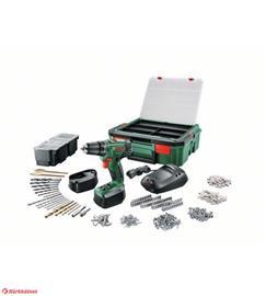 Bosch PSR1800 LI (06039A310R) 18V 2x1,5Ah, akkuporakone, 241 tarviketta ja SystemBox-tarvikelaukku
