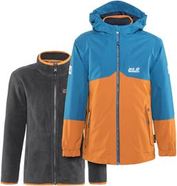 Jack Wolfskin B Iceland Lapset takki , oranssi/sininen
