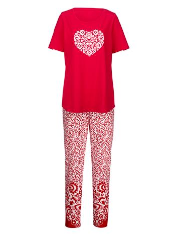 "Simone ""Pyjama punainen/ecru"""