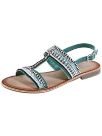"""Liva Loop"""" """"Koristekivin somistetut sandaalit turkoosi"""