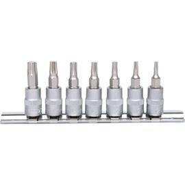 Kärki ja hylsysarja KS Tools 1/4'' Torx; T10-T40; 7 kpl.