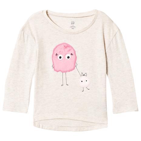 Little Monster T-paita Valkoinen/Vaaleanpunainen4 v
