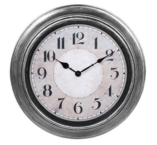 Klocka ur vägg antiksilver d40 väggklocka
