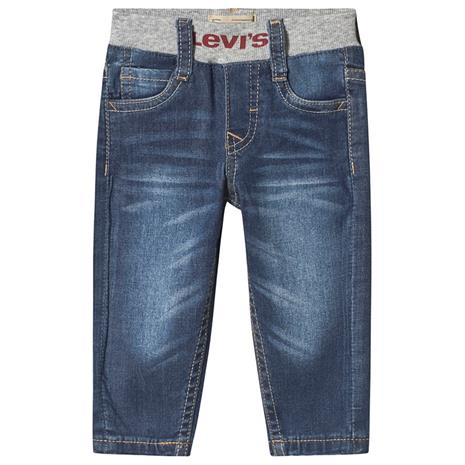 Pull-Up Jeans Blue Mid Wash12 months