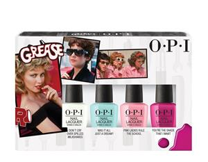​OPI - Nail Polish Set - Grease Minikit 4 x 3,75