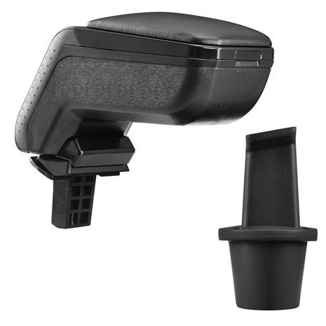 [pro.tec]® Kyynärnoja, keinonahka Dacia Duster musta, mustalla tikkauksella
