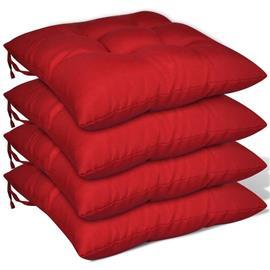 vidaXL Istuintyynyt 4 kpl 40x40x8 cm Punainen