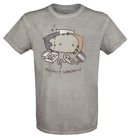 Pusheen Purrfect Weekend T-paita harmaa