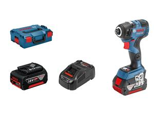 Iskuporakone / -ruuvinväännin Bosch GDR 18V-200 C; 18 V; 2x5,0 Ah akku