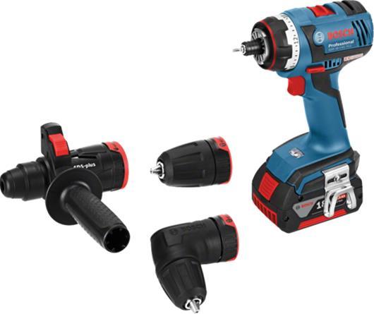 Pora/ruuvinväännin Bosch GSR 18 V-EC FC2 Flex; 18 V; 2x5,0 Ah akku