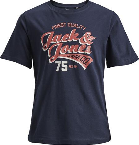 Jack & Jones Crewneck T-Paita, Navy Blazer 128