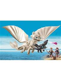 Playmobil Dragons 70038, Valkea raivo sekä lohikäärmevauva ja lapset