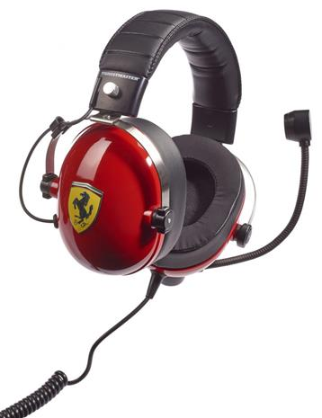Thrustmaster T. Racing Scuderia Ferrari, pelikuulokkeet mikrofonilla