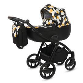 knorr-baby yhdistelmävaunut Piquetto Limited Edition, musta-keltainen - monivärinen