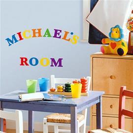 RoomMates® Seinätarra, värikkäät aakkoset - monivärinen