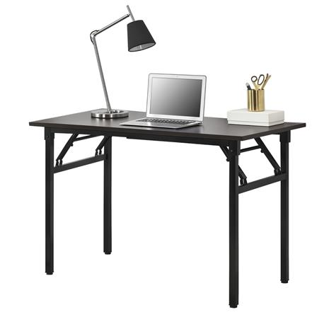 [neu.haus]® Kokoontaitettava pöytä, lastulevy / metalli 120 x 60 x 75-76,4cm tummanruskea / musta