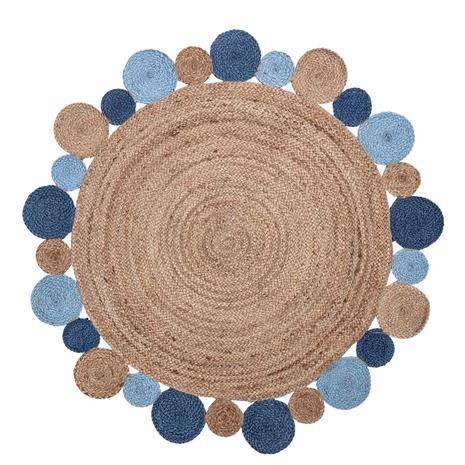 Bloomingville, Juuttimatto 120 cm Sininen