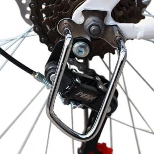 Teräksinen takavaihtajan suoja pyörään - Hopea