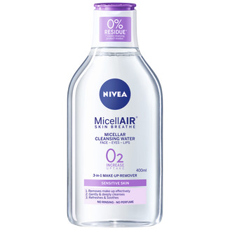 Nivea MicellAIR-puhdistusvesi herkälle iholle 400 ml