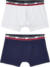 Levi's Alushousut 2-Pack, White/Blue 5 vuotta